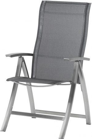Slimm Verstelbare stoel RVS Graphite