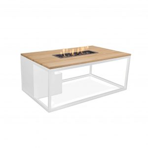 Cosiloft wit frame met teak tafelblad