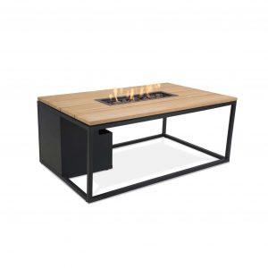 Cosiloft zwart frame met teak tafelblad