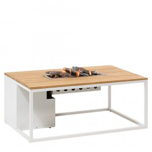 5958760 Cosiloft 120 Lounge Table White Teak Side