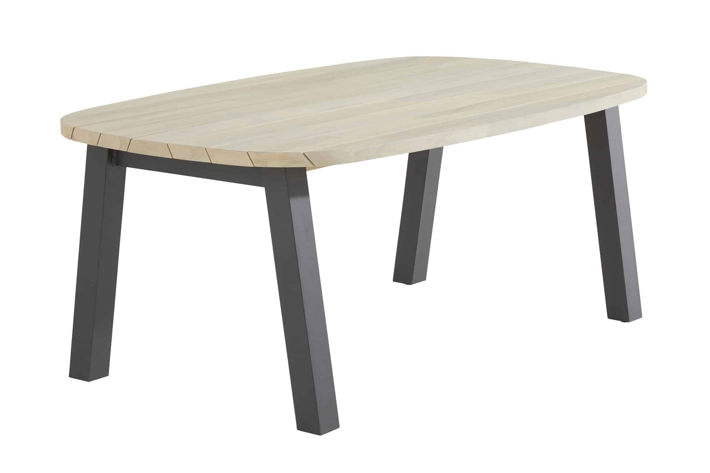 Scandic dining + Derby teak tafel ellips 180 cm