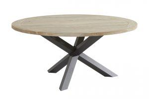 90571 Louvre Dining Table Teak 160cm With Alu Legs