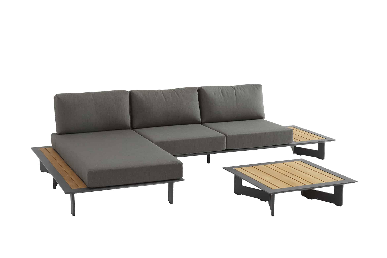 Amazing Lovina Chaise Lounge Matt Carbon Machost Co Dining Chair Design Ideas Machostcouk