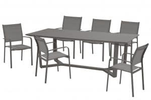 Tosca High Back Slate Grey Ylipse Dining Set
