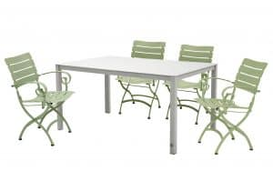 Belle Olive green Dining Set
