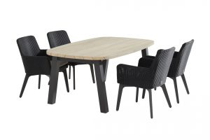 213302 90412 90771 Lisboa Dining Set With Derby Ellipse Table