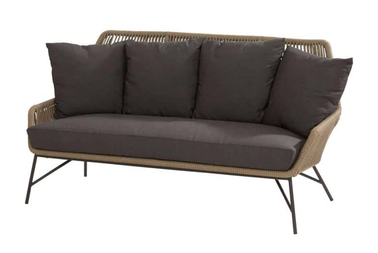213509 Ramblas Living Bench 2.5 Seaters Taupe With 5 Cushions