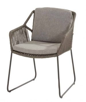 213519 Accor Dining Chair Mid Grey With 2 Cushions 01