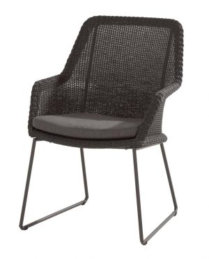 213525 Samoa Dining Chair Ecoloom Anthracite With Cushion 01