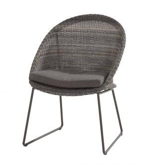 213546 Hampton Dining Chair Ecoloom Charcoal With Cushion 01