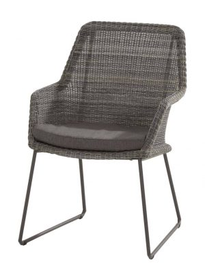 213526 Samoa Dining Chair Ecoloom Charcoal With Cushion 01