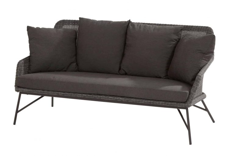 213528 Samoa Living Bench With 5 Cushions Ecoloom Charcoal