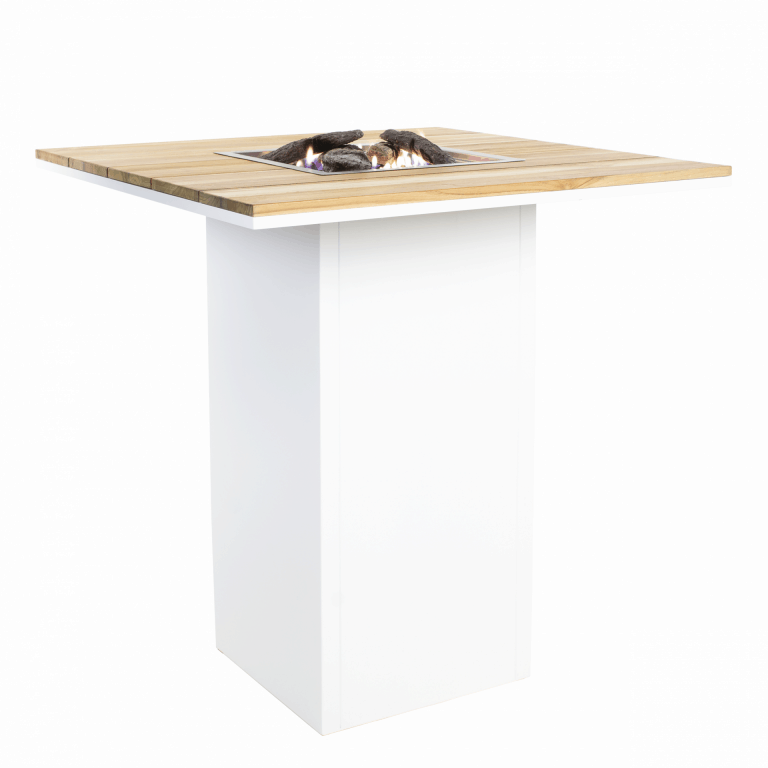 5980120 Cosiloft 100 Bar Table White Teak