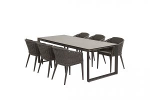 90807 91061 Portobello Dining With Heritage Ceramic Table Matt Carbon 01