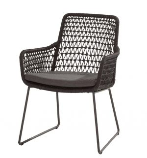 91013 Athena Dining Chair Knotted With Cushion 01
