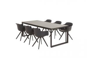 91039 91061 Solid Dining With Heritage Ceramic Table Matt Carbon 01