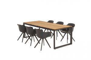 91039 91064 Solid Dining With Heritage Teak Table 01 Matt Carbon