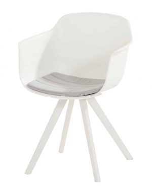 91040 Solid Dining Chair With Cushion White 01