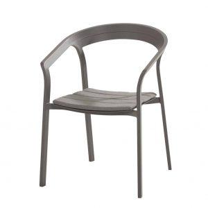 91041 Copenhagen Dining Chair With Seat Cushion Matt Carbon 01