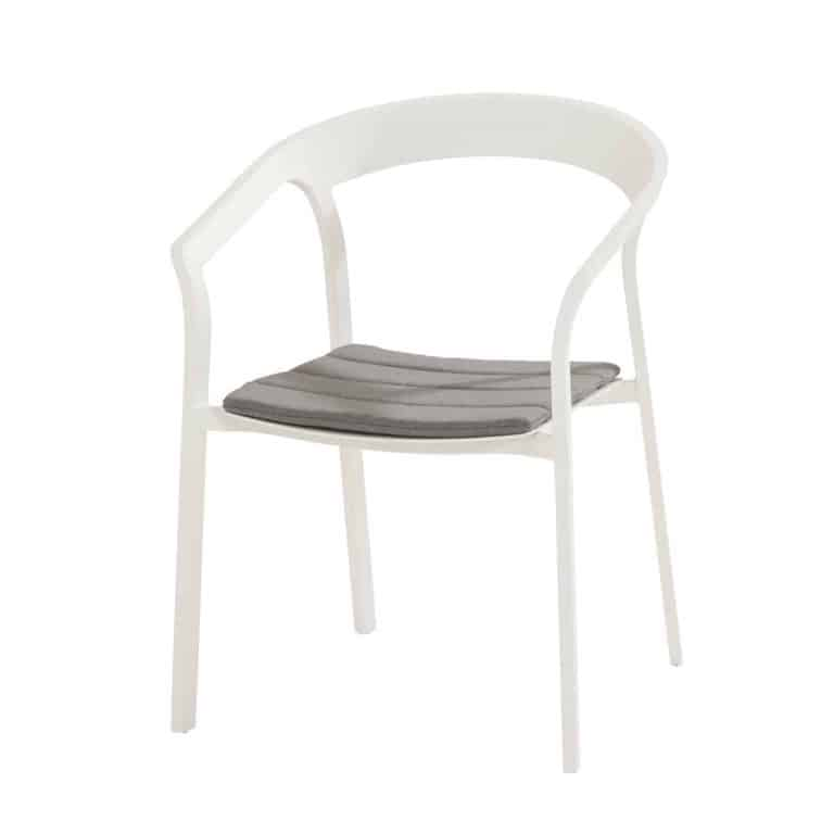91043 Copenhagen Dining Chair With Seat Cushion White 01