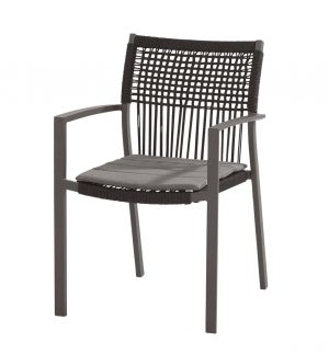 91047 Inca Stacking Chair Rope Matt Carbon 01