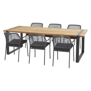 91124 91081 910x82 Barista Blue Dining Set With Alto Table 240x100 Cm