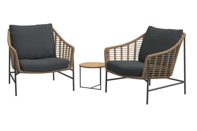 Timor Living Chairs With Strada Sidetable