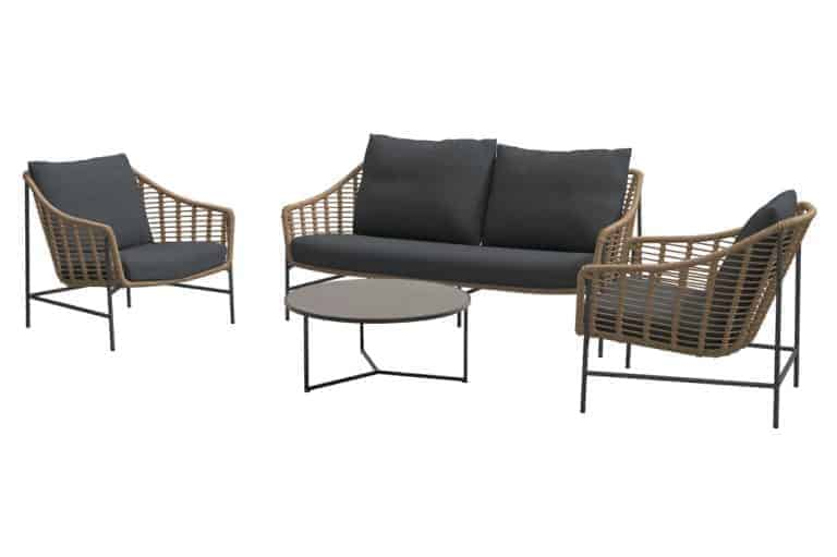 Timor Living Set With Round Atlas Table
