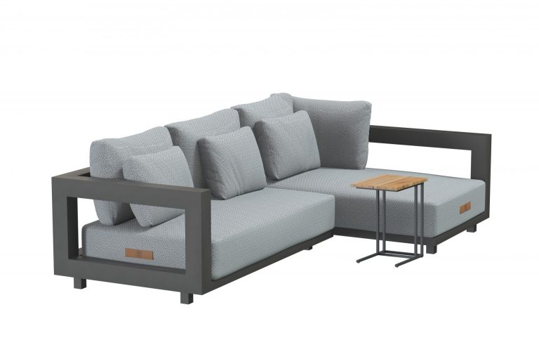 19754 19755 19774 Metropolitan Modular Chaise Lounge Set Small With Solido Table