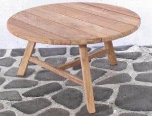 Woody teak sidetable 80cm - T578 (5)